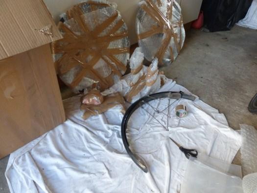 Mudguard and wheels