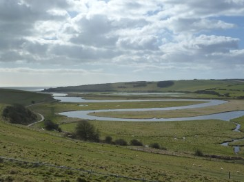Cuckmere river at the Seven Sisters country park