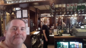 Garry McGivern enjoying a pint