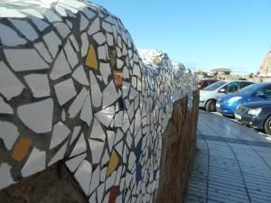 mosaic on a wall in Puerto De Mogan