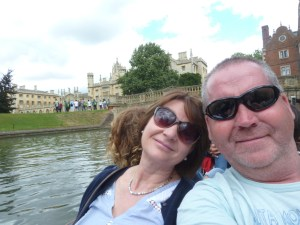 Garry McGivern on a punt in Cambridge
