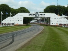 Looking up the hill at Goodwood