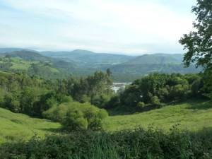 Green mountains of northern Spain