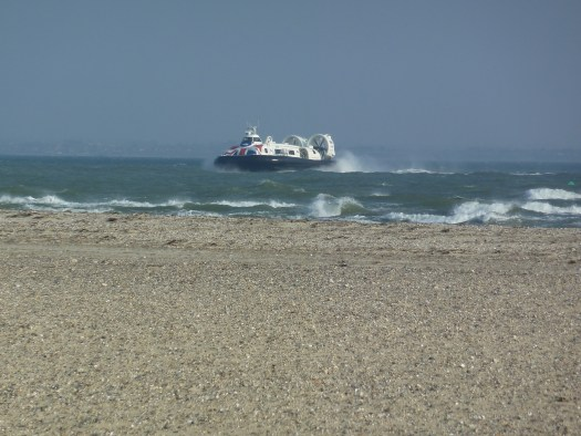 Hovercraft on the sea