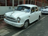 A good old Ambassador car in Mumbai
