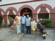 The family from the hotel in Dhule that looked after Garry when he wasn't very well