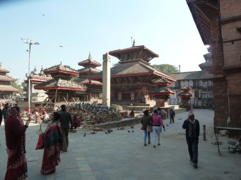 Damaged buildings Durbar Square Kathmandu