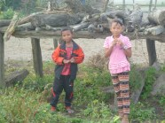 Some local children near the Chitwan national park.