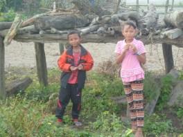 Some local children near the Chitwan national park.