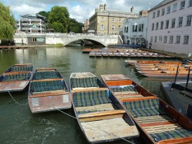 Punts on the river Cam Cambridge