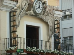 Carillion clock in plaza Mayor Real Ciudad