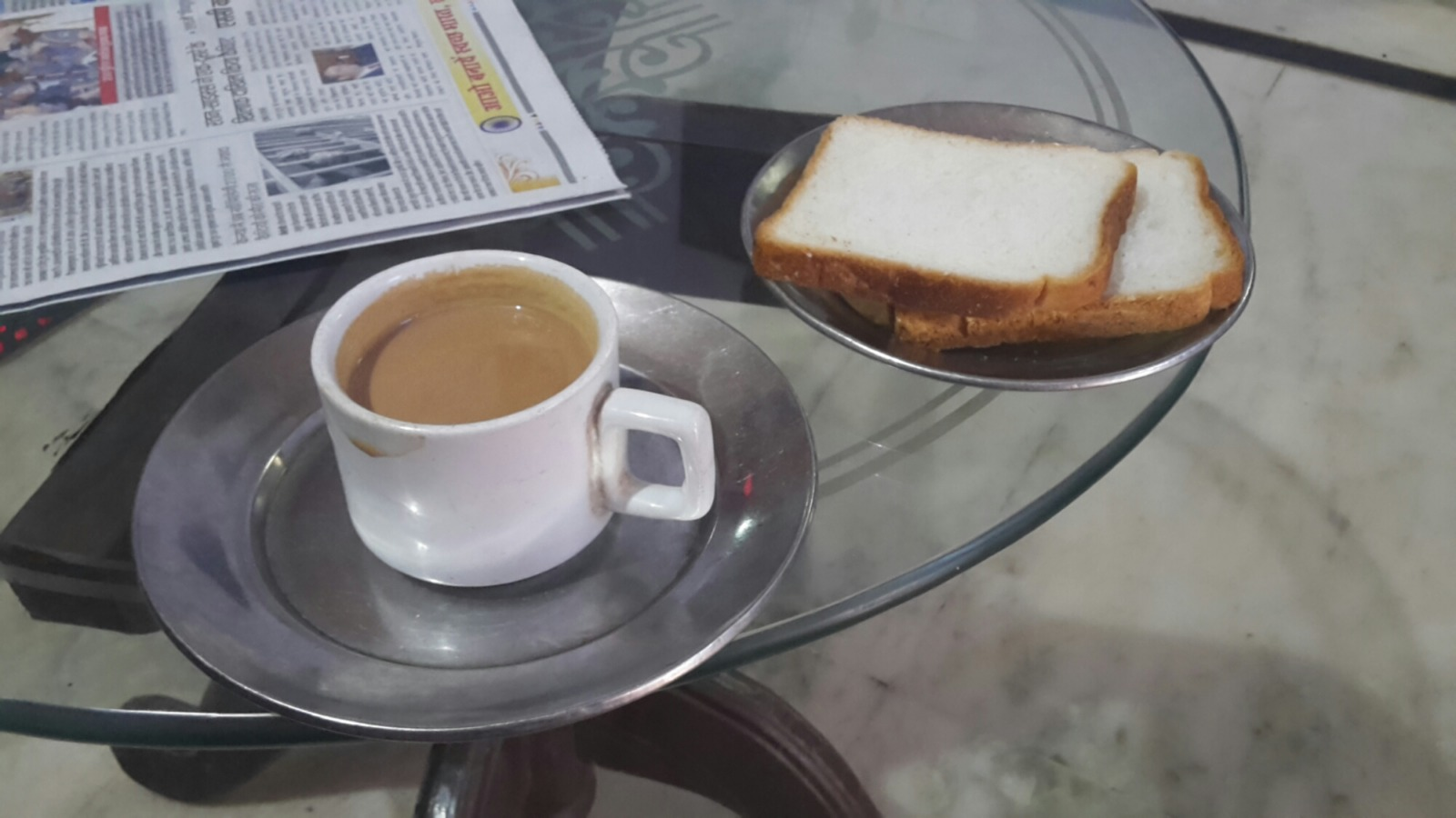 Breakfast at a hotel in Lalipur