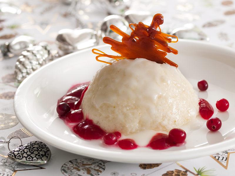 Laimīgais saldais no rīsiem un putukrējuma