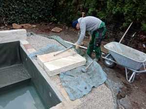 Sandstein Blockstufe