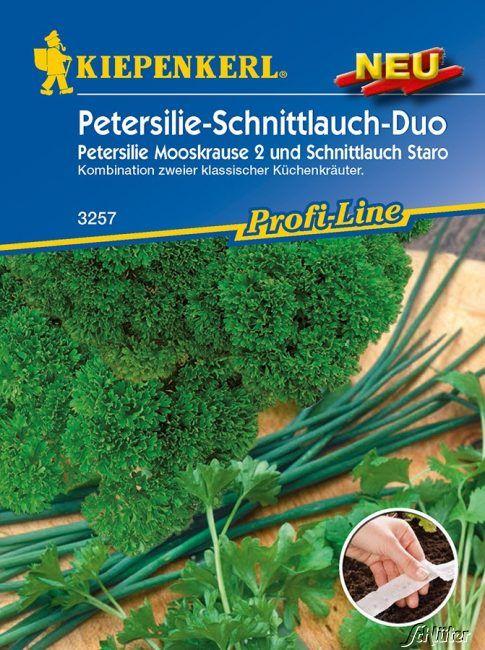 Kräuter-Duo Schnittlauch 'Staro' und Petersilie 'Mooskrause 2'