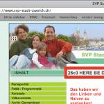 gehackte svp-website am 4.1.2010