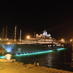 Yacht Radiant in the old port of Ibiza