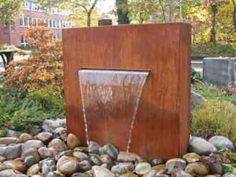 cortenstahl brunnen garten gartenbrunnen aus cortenstahl - cortenstahlbrunnen online kaufen