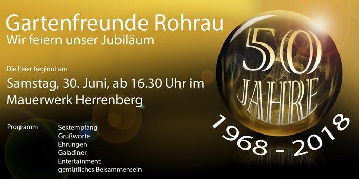Jubiläumsfeier 50 Jahre Gartenfreunde Rohrau