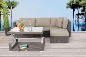Rattan lounge dining set   Estelle   Wicker furniture