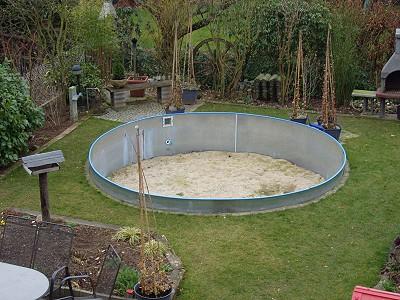 Gartenteich umbau vom pool zum fischteich teichreport for Gartenteich mit goldfischen