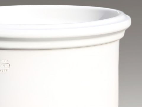 blumenkübel weiß gro�er runder blumenk�bel in wei� - steinzeug winterfest - brevis blanc