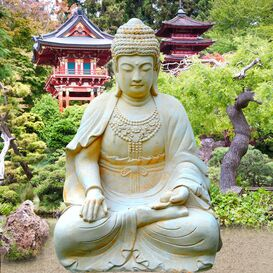 Buddha Figur aus Steinguss - Sila