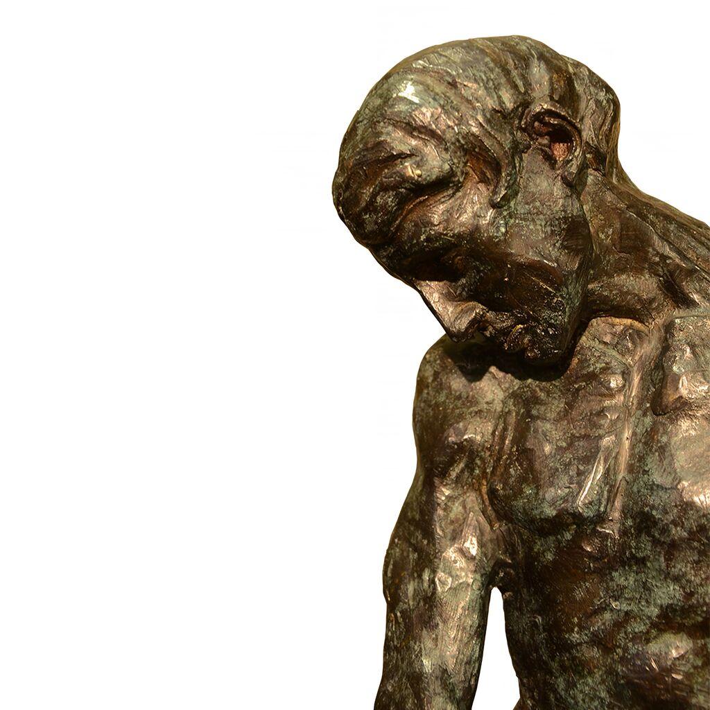 bronze skulptur adam original von rodin