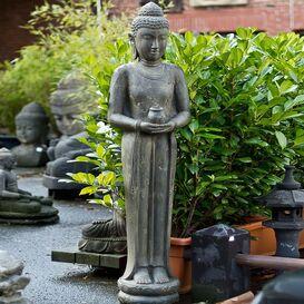 """Buddhafigur - Steinfigur """"Kasyapa"""" für den Garten aus Steinguss"""