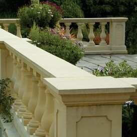 """Balustrade """"Redondo"""" Geländer aus Steinguss in weiß, beige oder terrakotta"""
