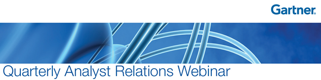 Gartner Quarterly Analyst Relations Webinar