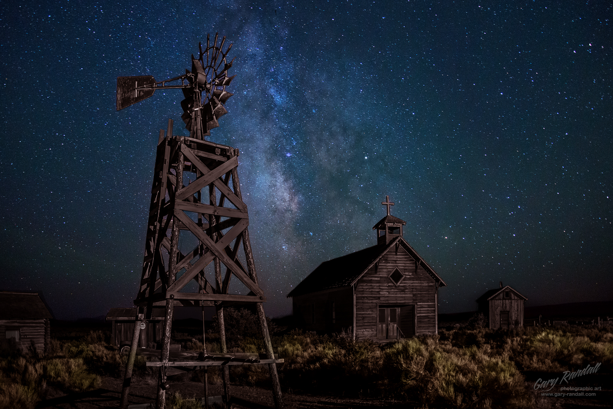 The Milky Way at Fort Rock Oregon