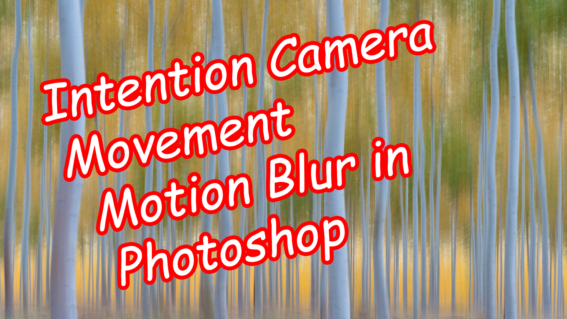 Intentional Camera Movement in Photoshop using The Blur Filter