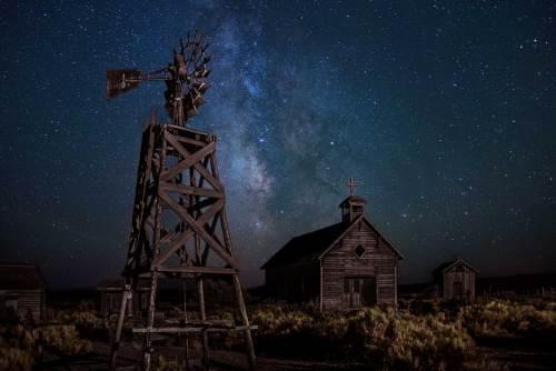 A Dark Night at Fort Rock