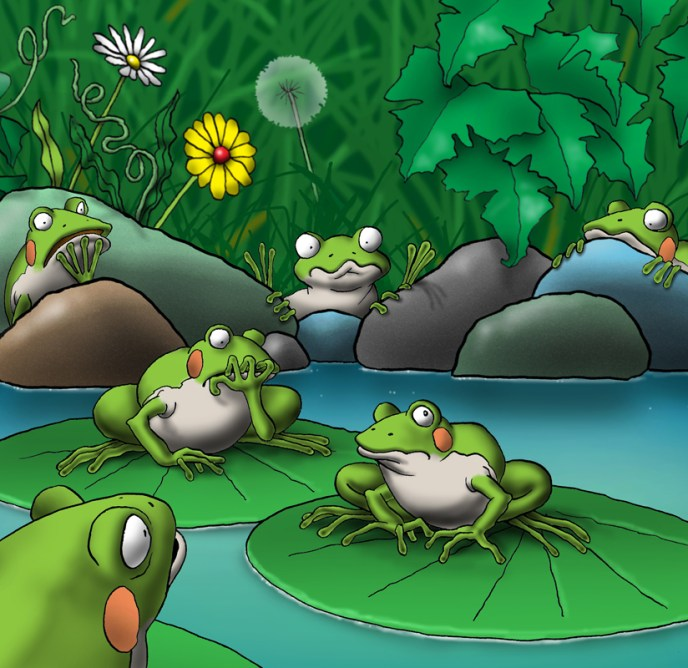 panicked frogs