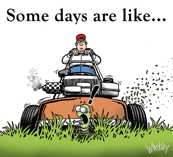 Some days are like mowing. Illustration of the week.