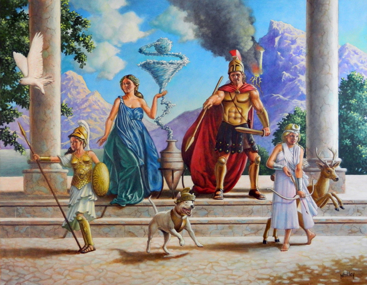 Beaver family portrait by Gary Whitley