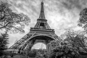 Eiffel in Black and White