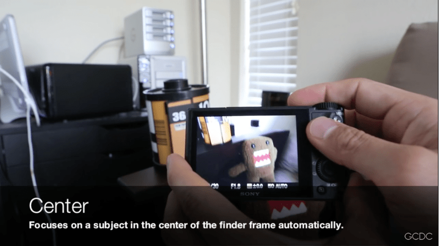 Sony RX100 Focus Modes