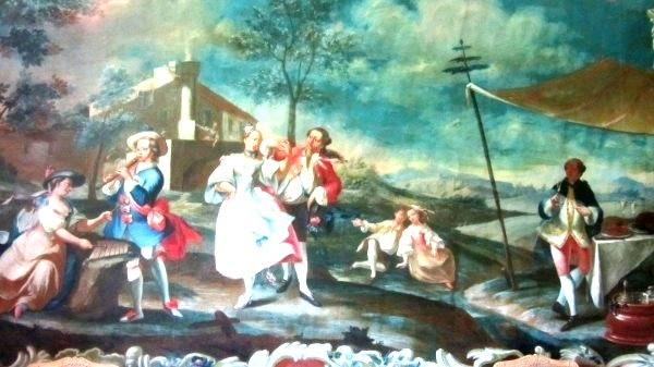 One of 600 paintings in the apartments of Schloss Eggenberg