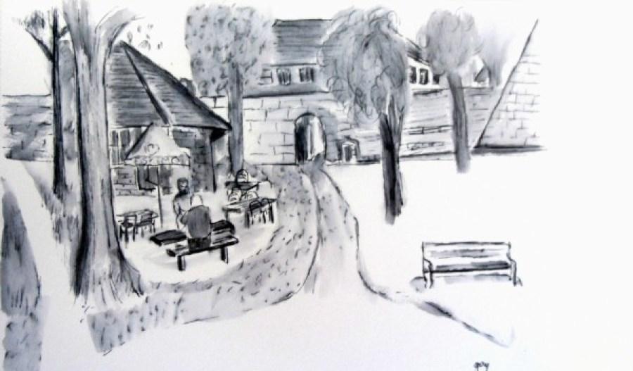 Cafe in Schlossburg Park