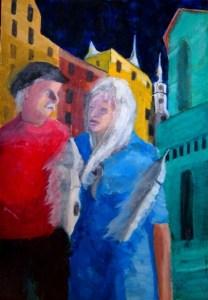 Couple in Vilnius