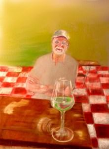 Self Portrait at Wine Fest, Valencia