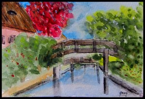 Giethoorn, 3 bridges post card A6