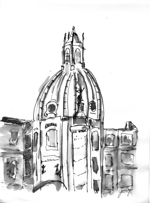 Trajans Column from Vittorio Emanuelle