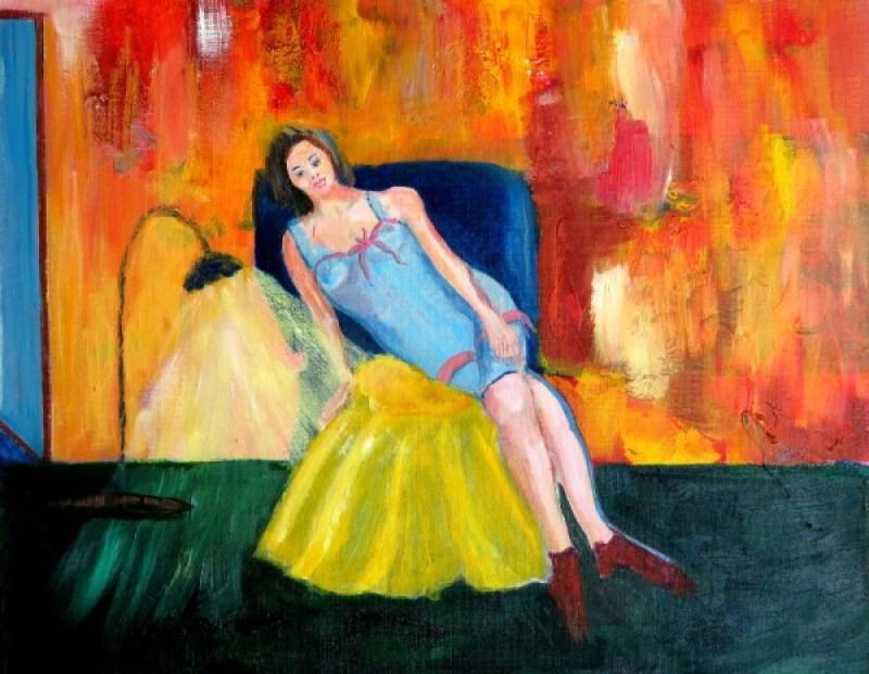 Woman in Boudoir