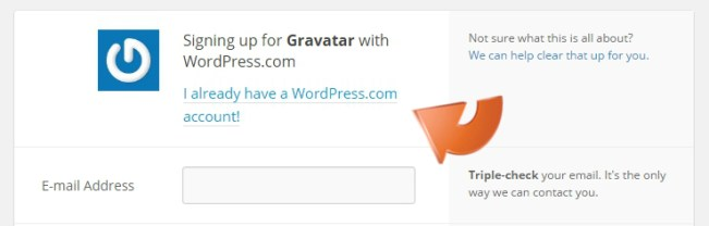 Sign in to Gravatar with WordPress