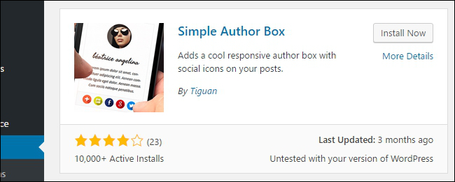 Install Simple Author Box