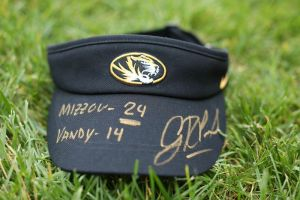 Gary Pinkel Mizzou Football Visor Auction