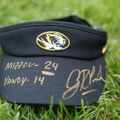 Gary Pinkel Mizzou Football Visor Auction
